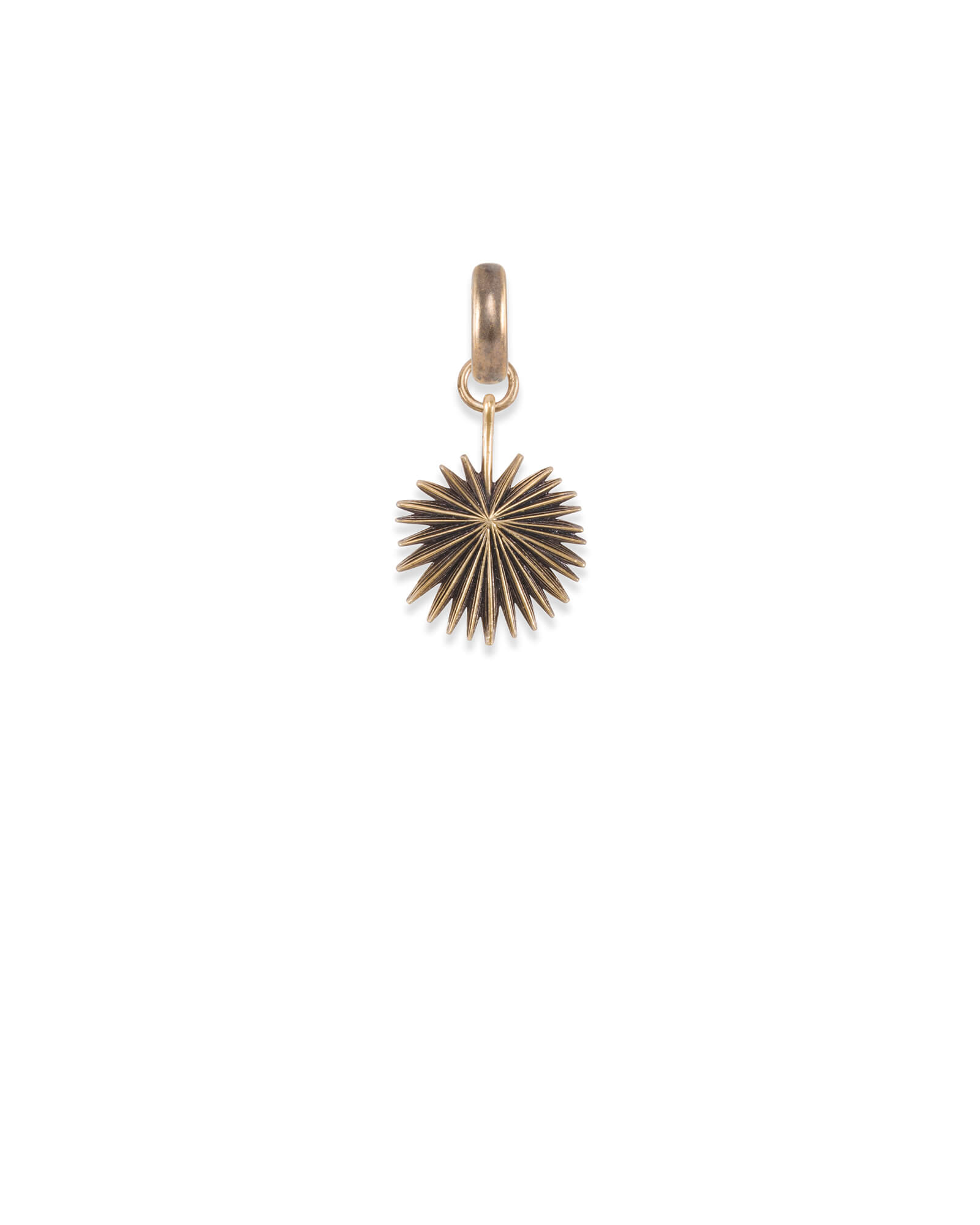 South Carolina Sabal Palmetto Charm in Vintage Gold