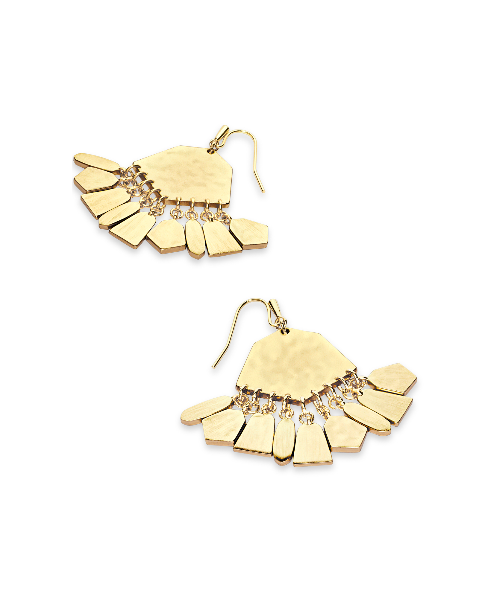 Liz Statement Earrings in Gold