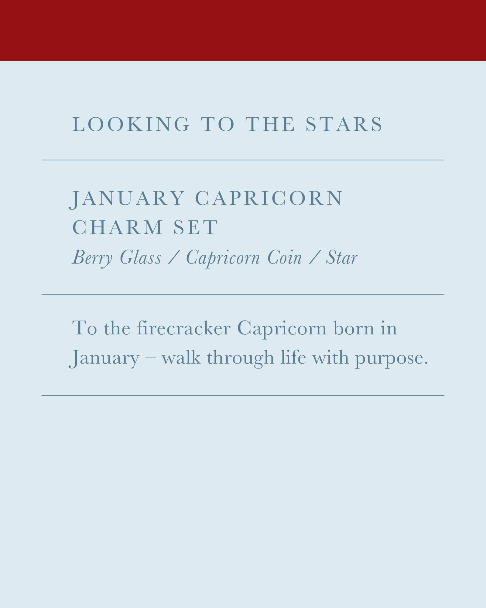 January Capricorn Charm Necklace Set in Silver