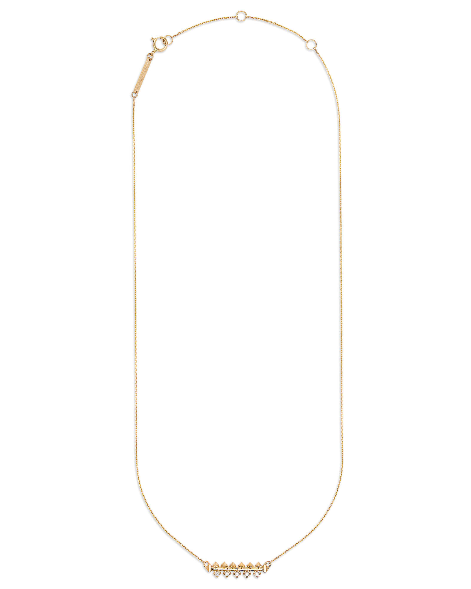 Silas 14k Yellow Gold Necklace in White Diamond