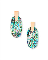 Aragon Rose Gold Drop Earrings in Abalone Shell