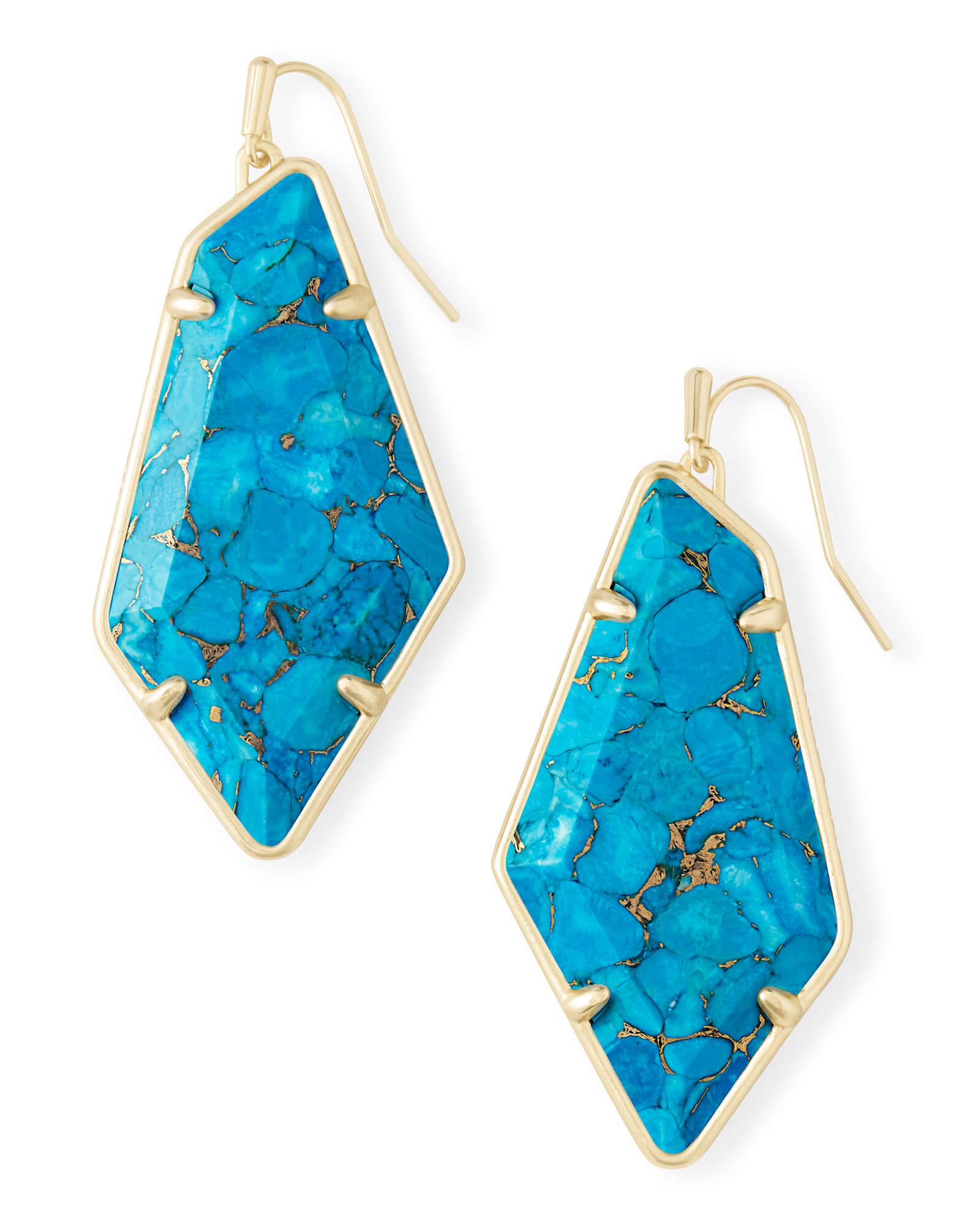 8ac87ed53a8bc Kendra Scott Bronze Veined Turquoise Earrings - Best All Earring ...