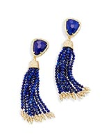 Blossom Statement Earrings in Lapis