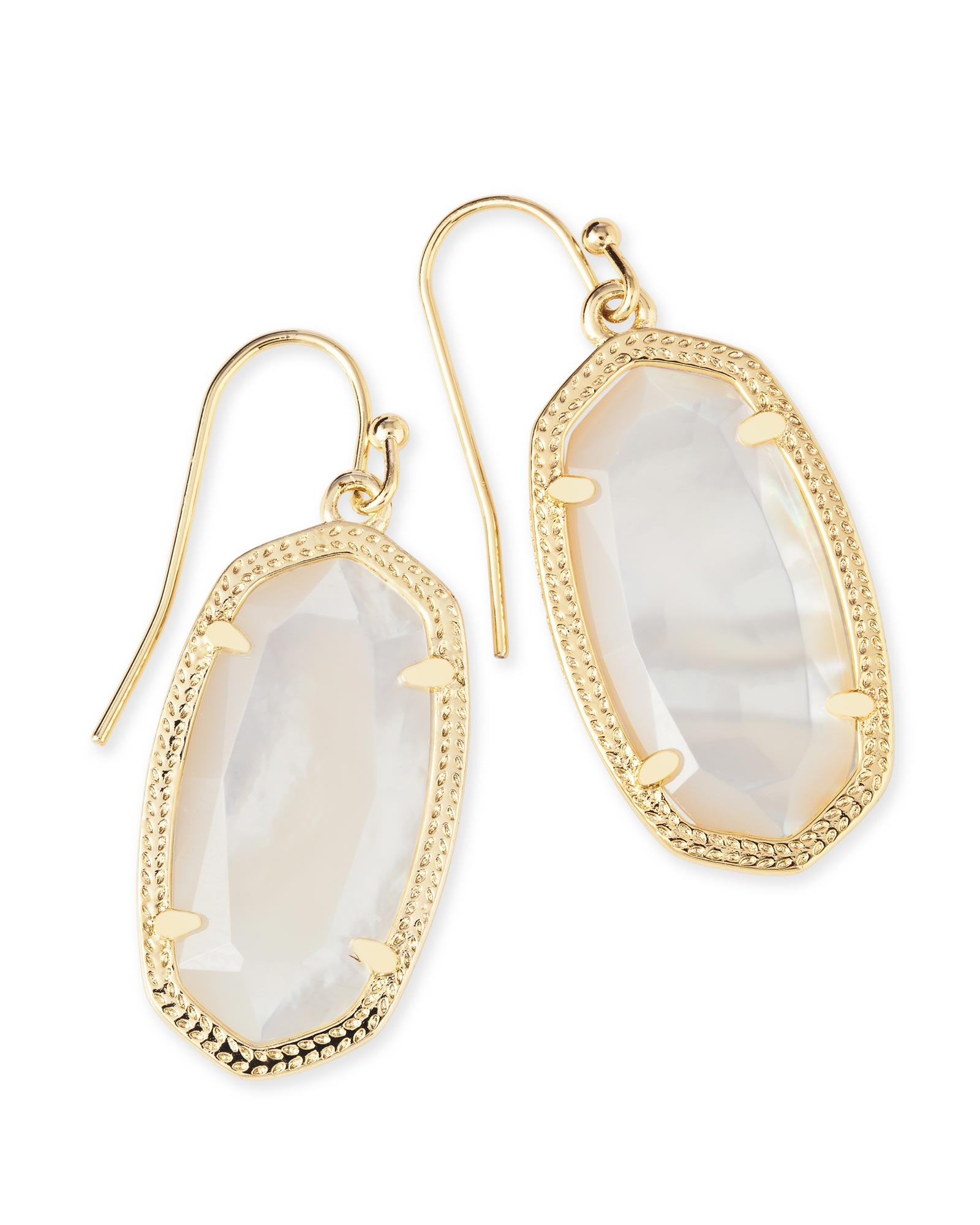 kendra earrings studs gold drop earrings in ivory pearl kendra 5460