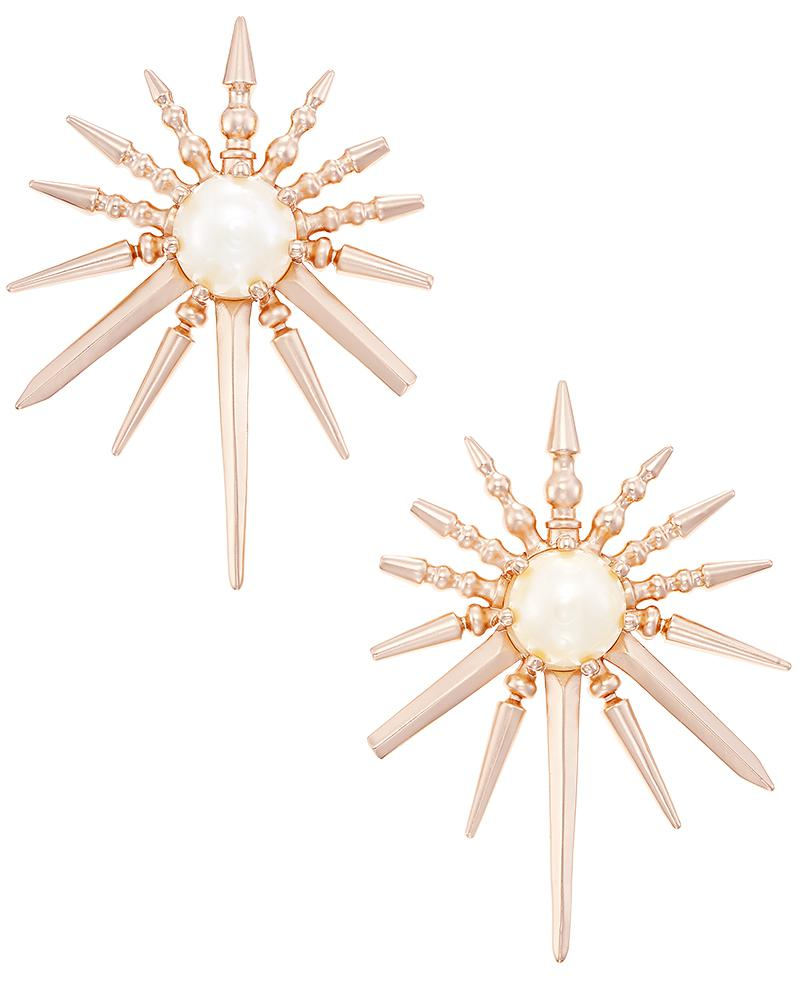 Sayers Statement Earrings in Rose Gold
