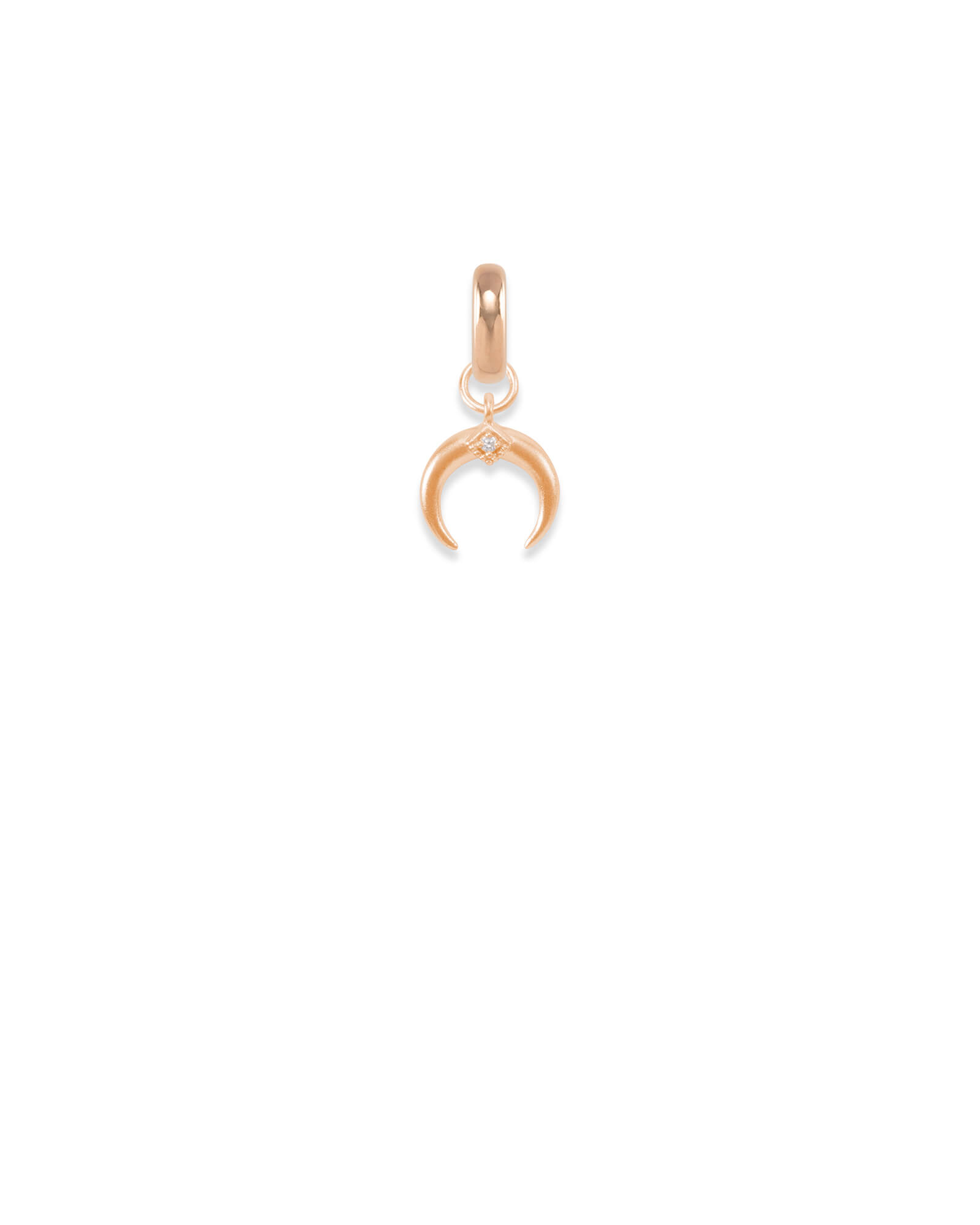 Oklahoma Bison Horns Charm in Rose Gold