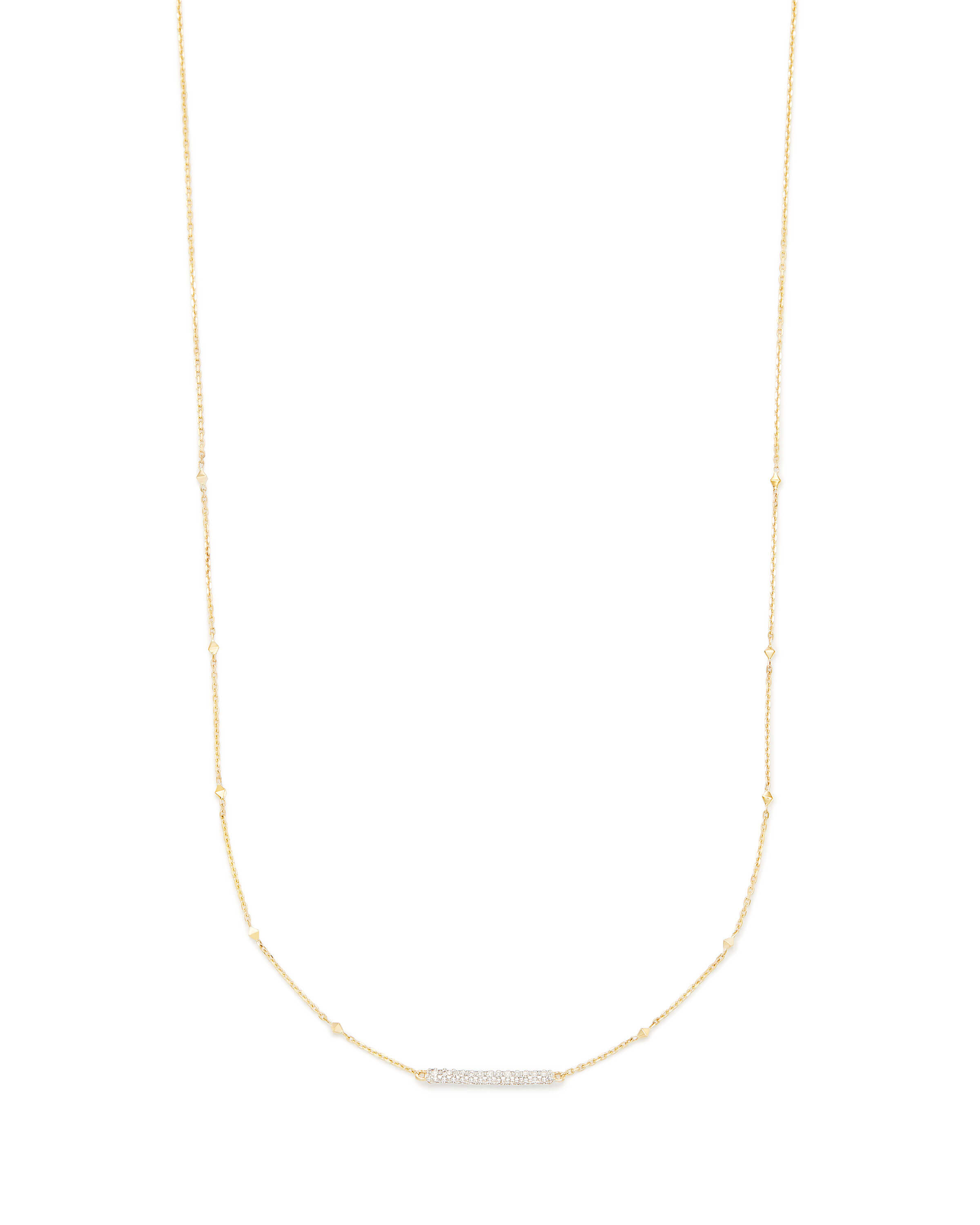 Remington Pendant Necklace in 14k Gold and White Diamonds