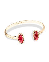 Elton Cuff Bracelet in Burgundy Illusion