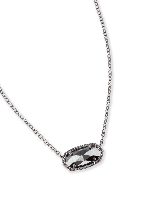 Elisa Pendant Necklace in Hematite