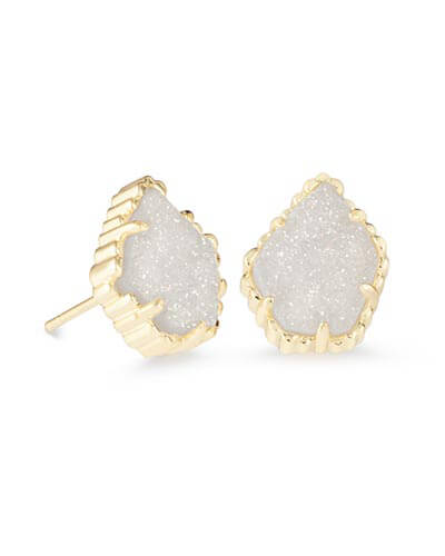Tessa Stud Earrings in Iridescent Drusy