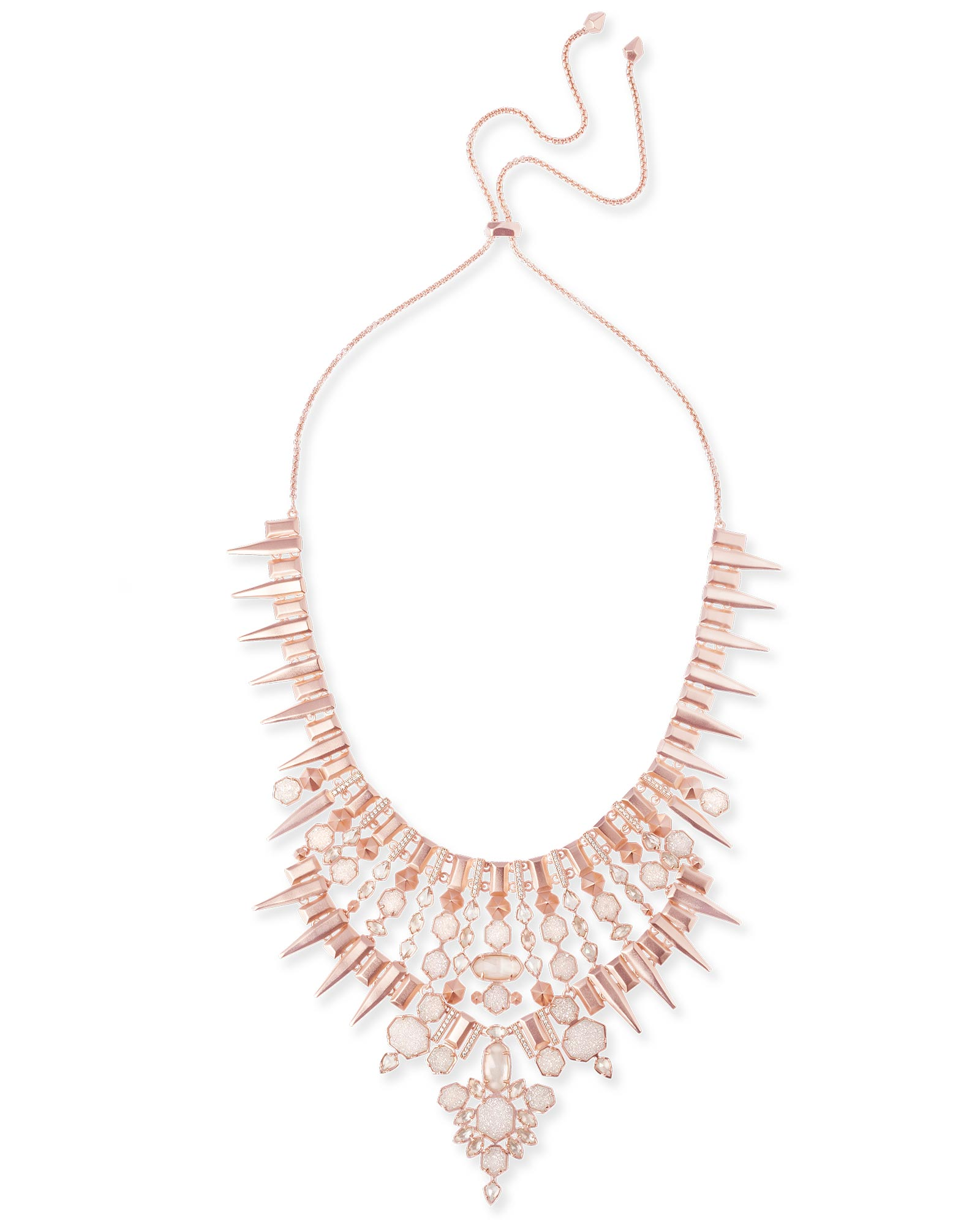 Seraphina Statement Necklace In Champagne