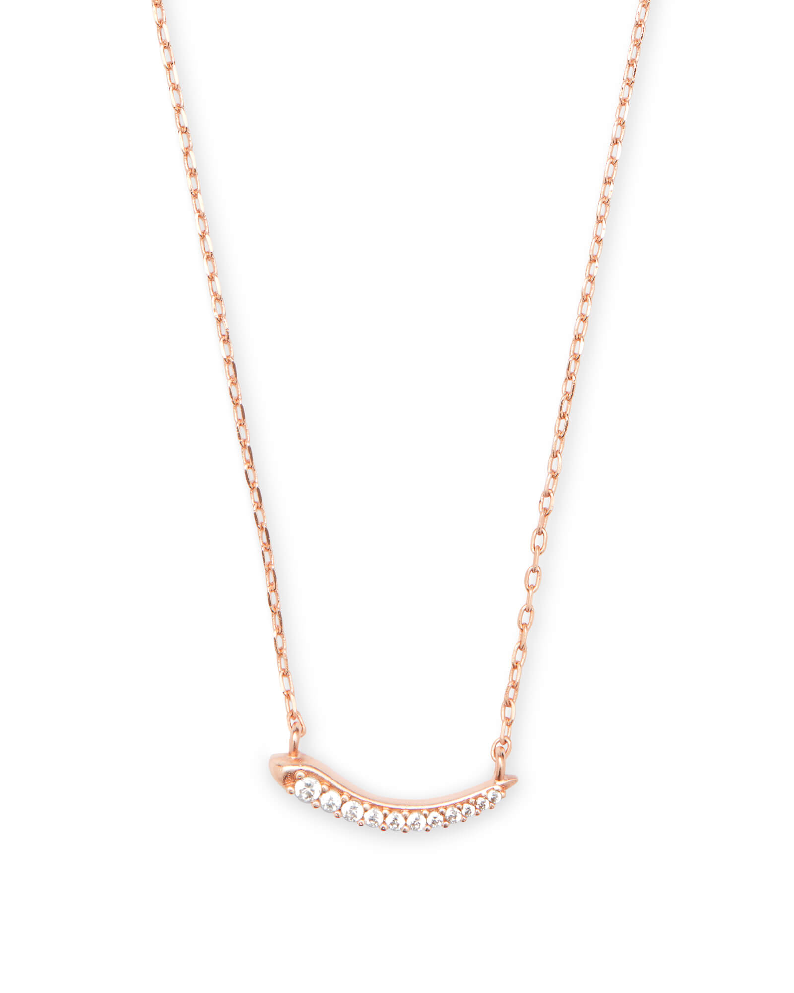 Whitlee Pendant Necklace in Rose Gold