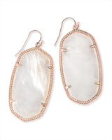 Danielle Rose Gold Earrings in Ivory Pearl