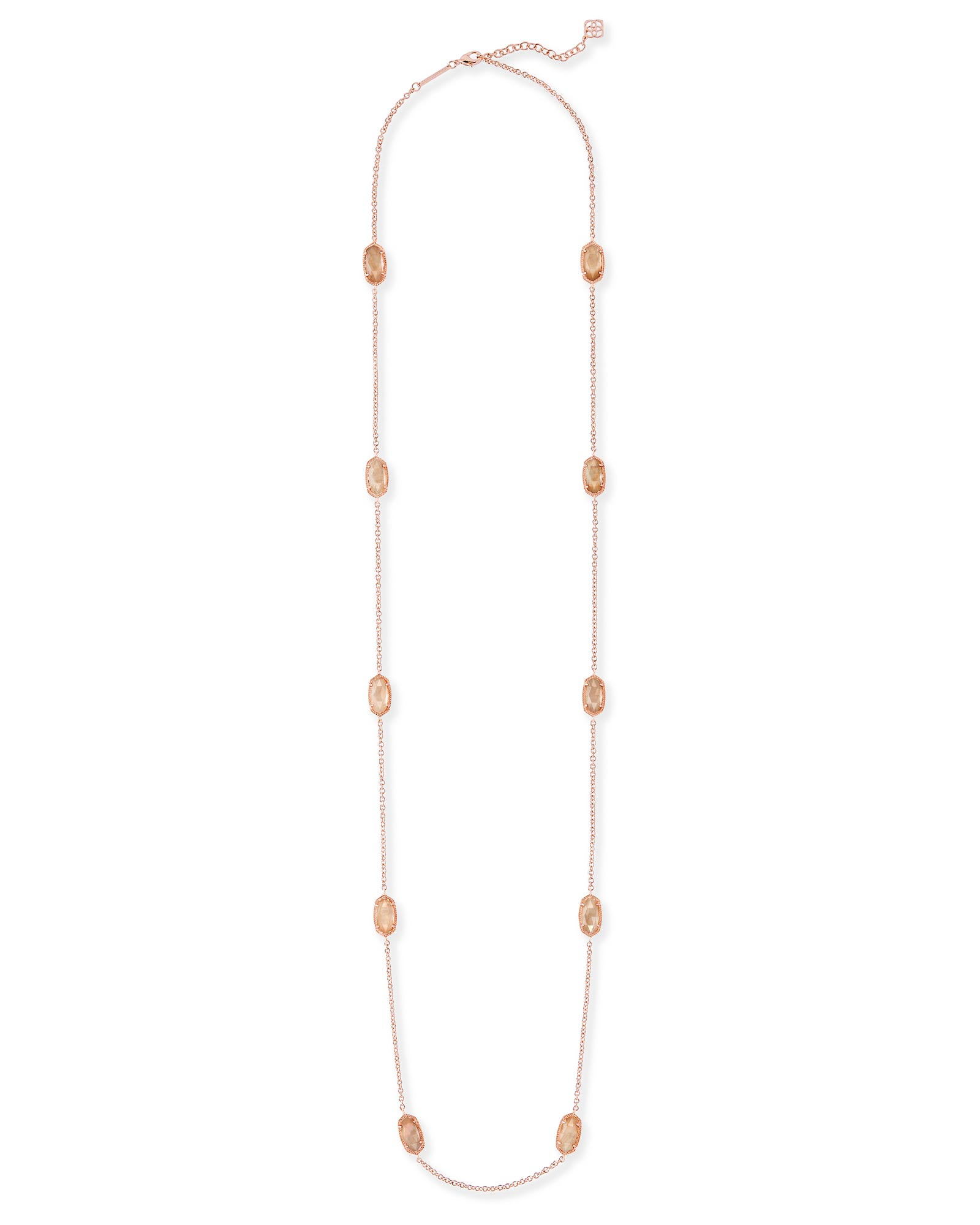 Kellie Long Necklace in Rose Gold