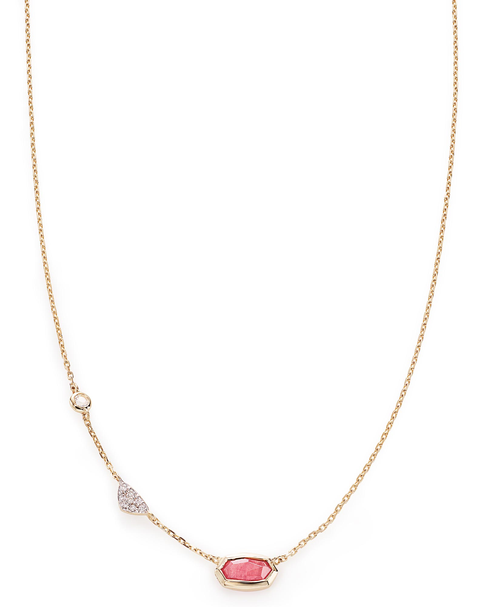 Aryn Pendant Necklace in Pink Tourmaline and 14k Yellow Gold