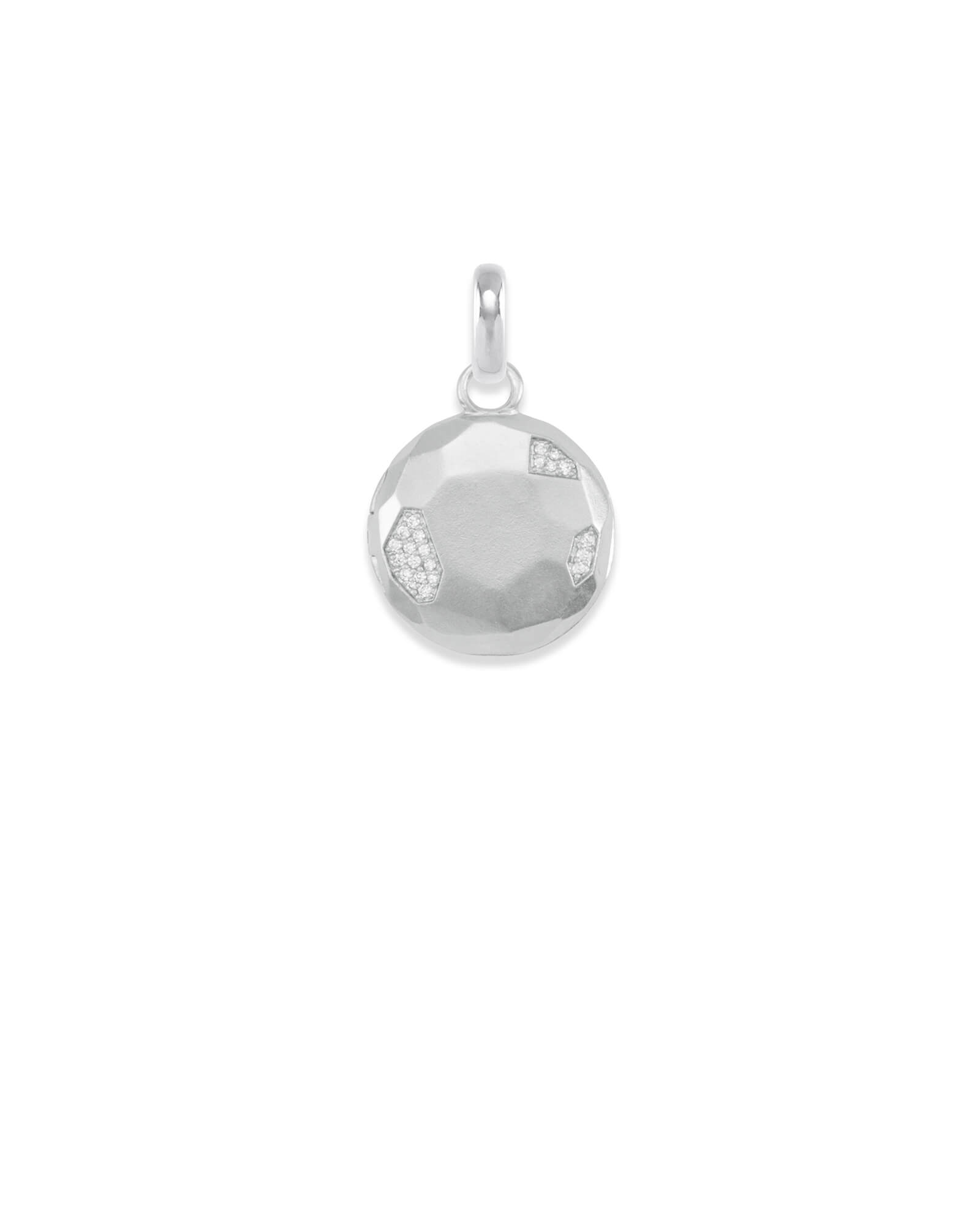 Pave Locket Charm in Silver