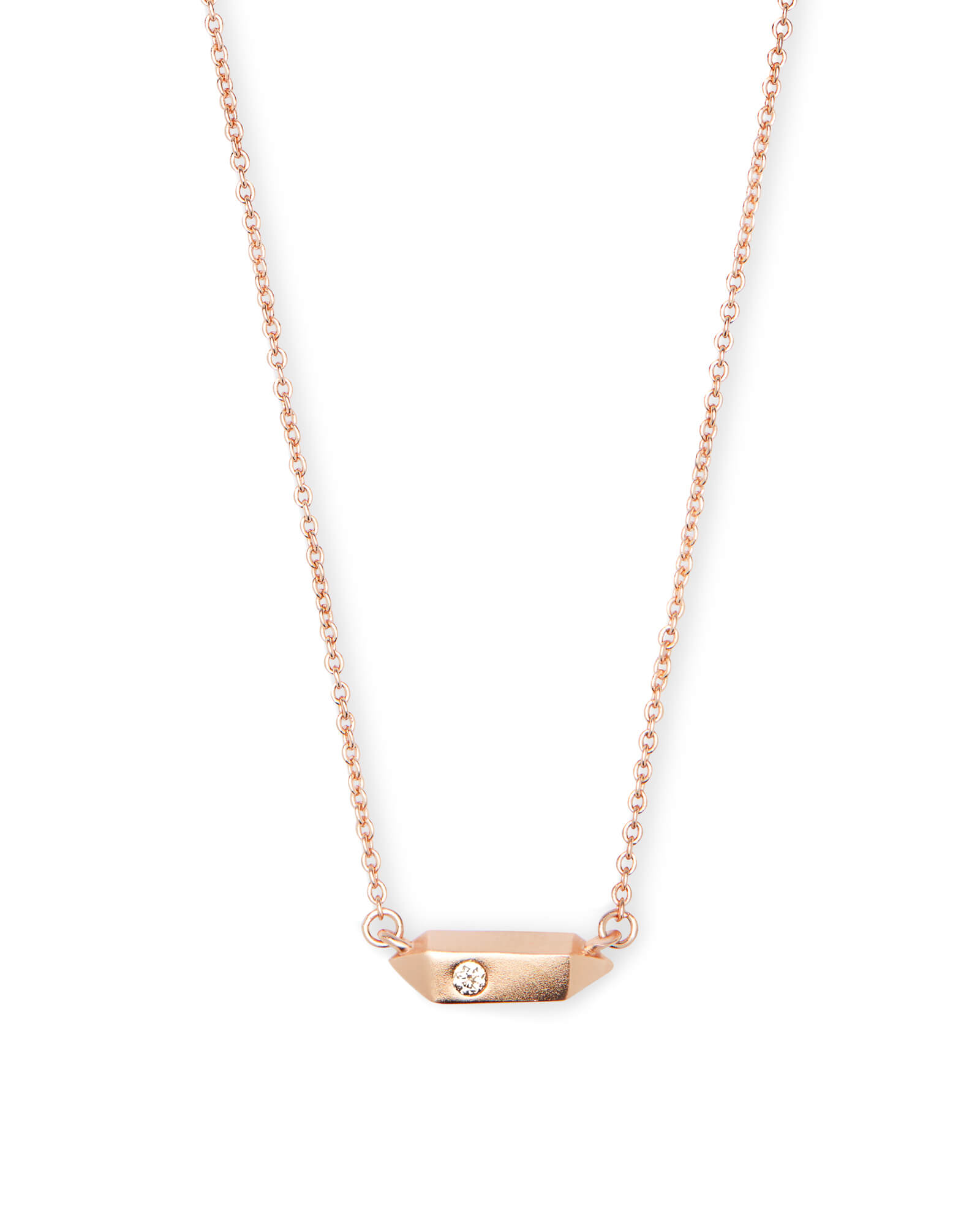 Charly Pendant Necklace in Rose Gold