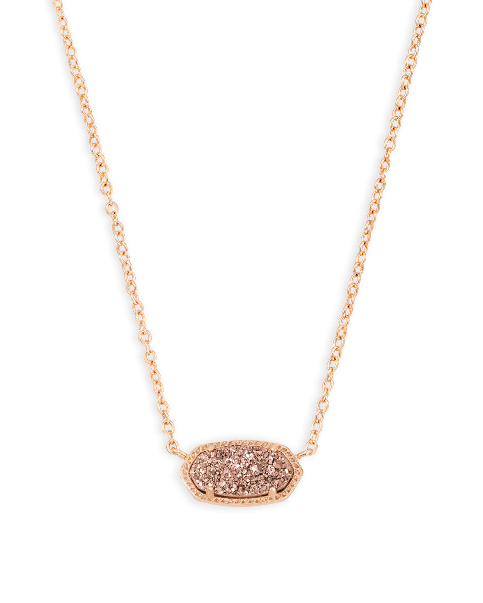 Elisa rose gold pendant necklace in rose drusy kendra scott elisa rose gold pendant necklace in rose gold drusy aloadofball Image collections