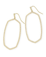 Danielle Open Frame Statement Earrings in Gold