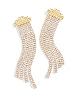 Olympia Statement Earrings in Gold