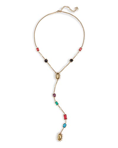 Liesl Y Necklace in Brass