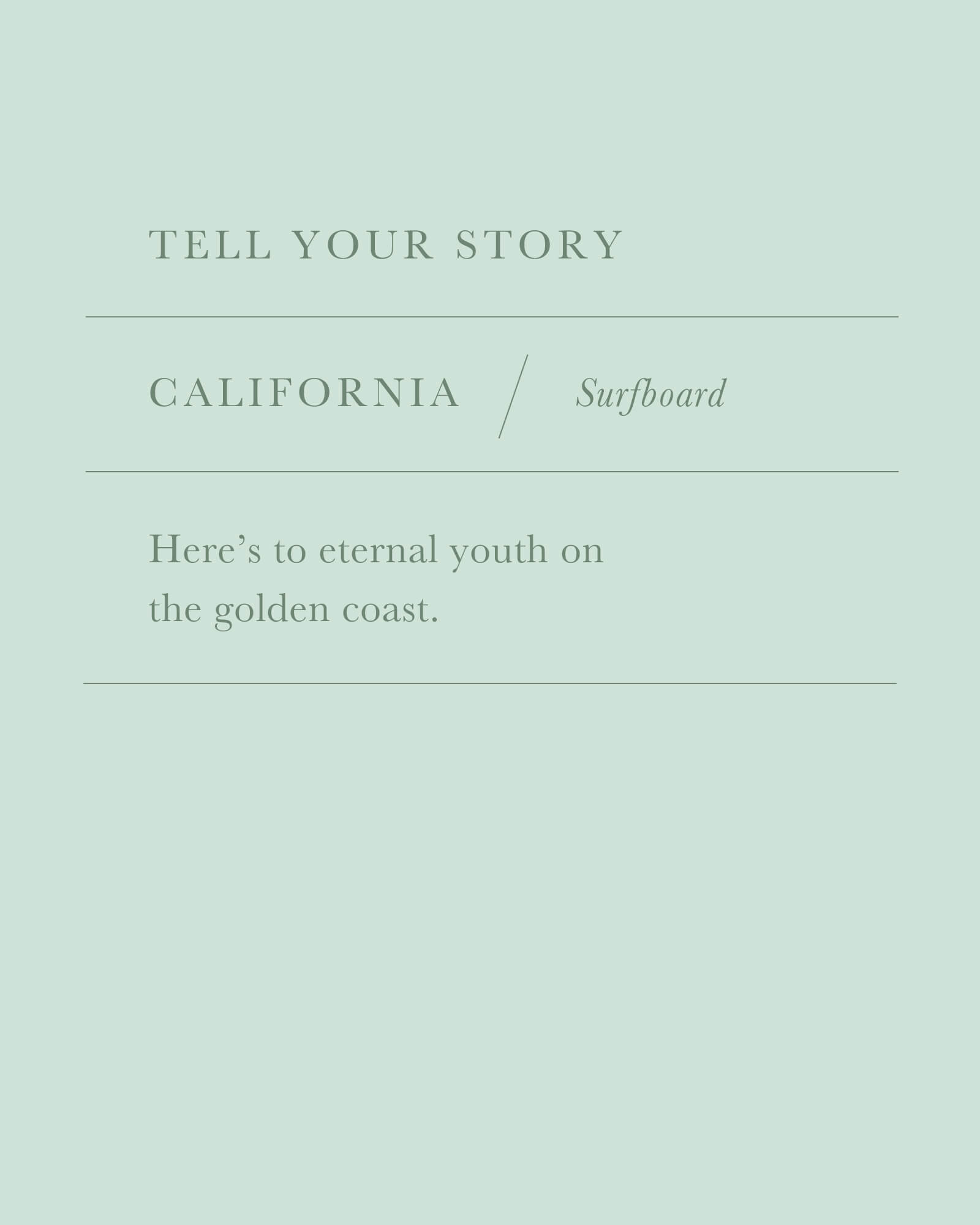 California Surfboard Charm in Gold