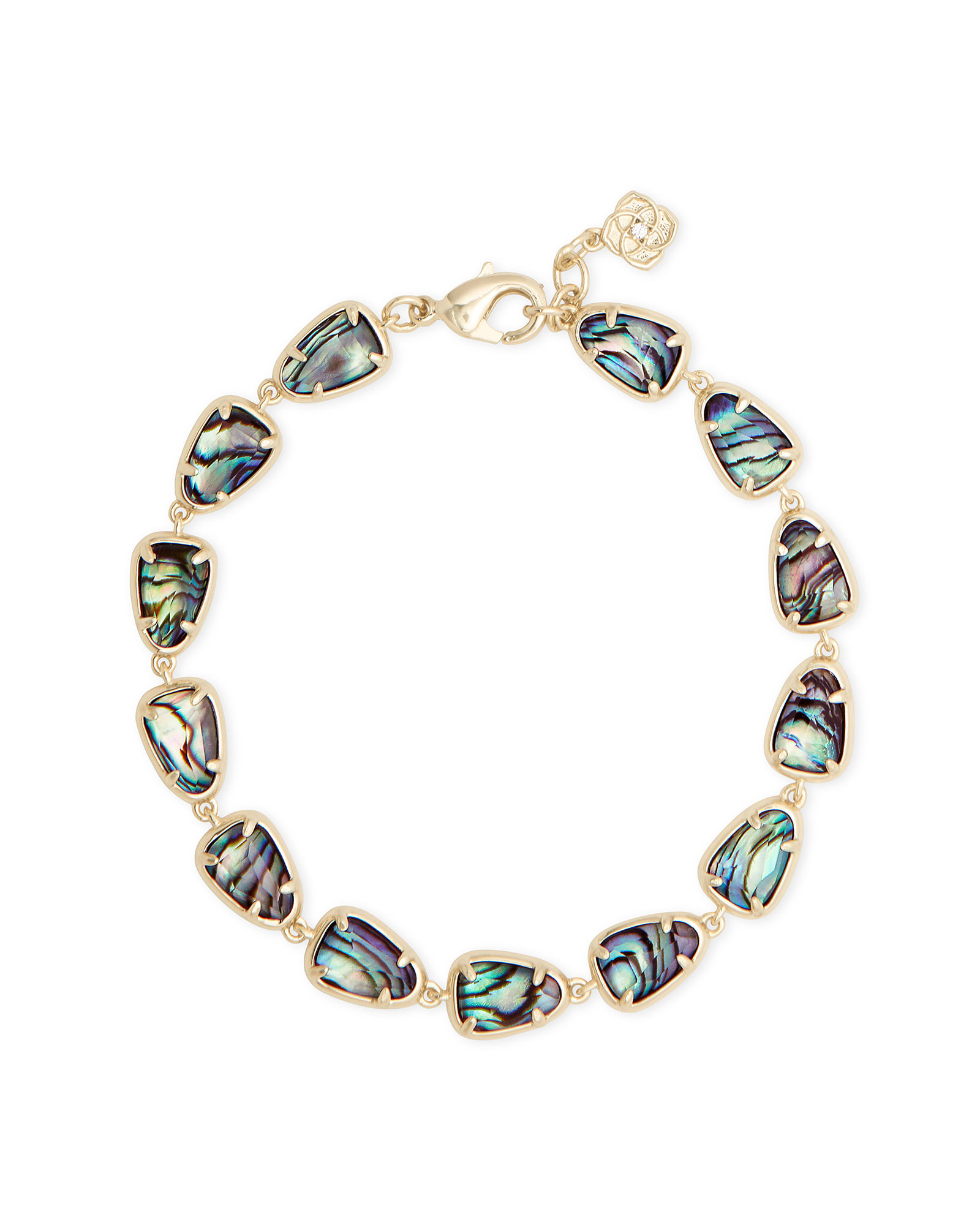 Susanna Gold Link Bracelet in Abalone Shell