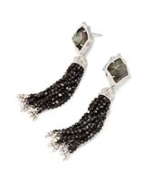Misha Statement Earrings in Black Pearl