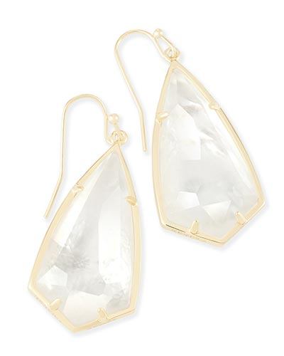 Carla Drop Earrings in Ivory Pearl