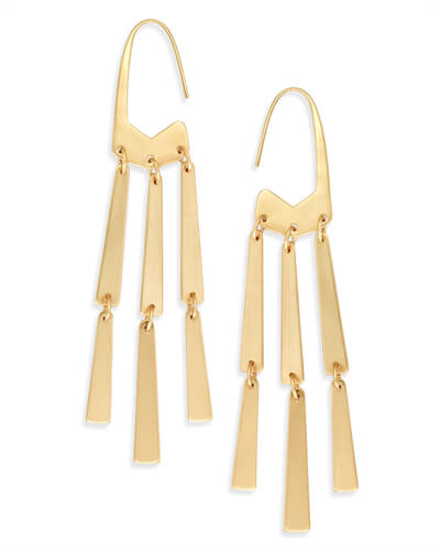 Mallie Statement Earrings in Gold