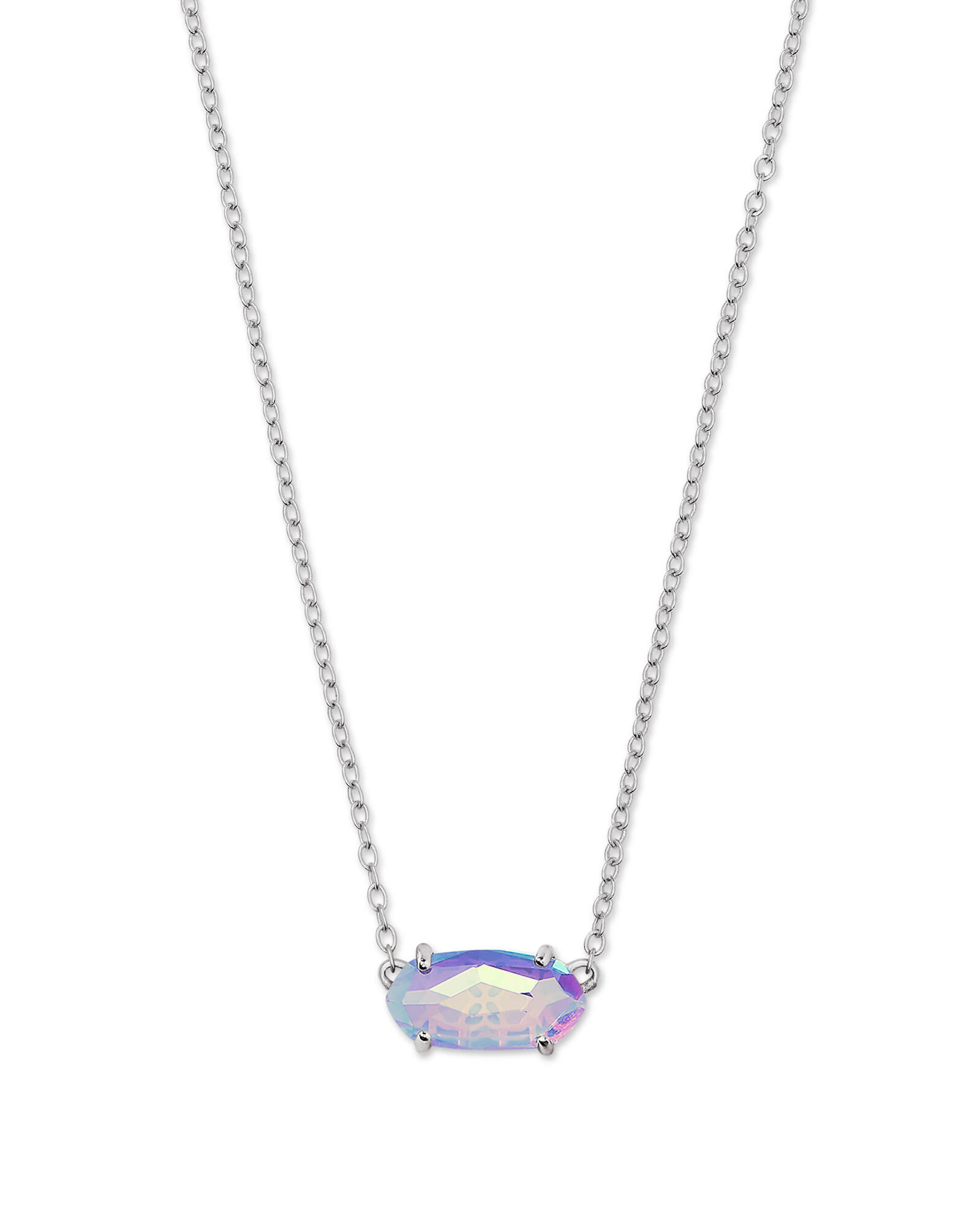 a20673f3d10613 Ever Silver Pendant Necklace in Gray Dichroic Glass | Kendra Scott
