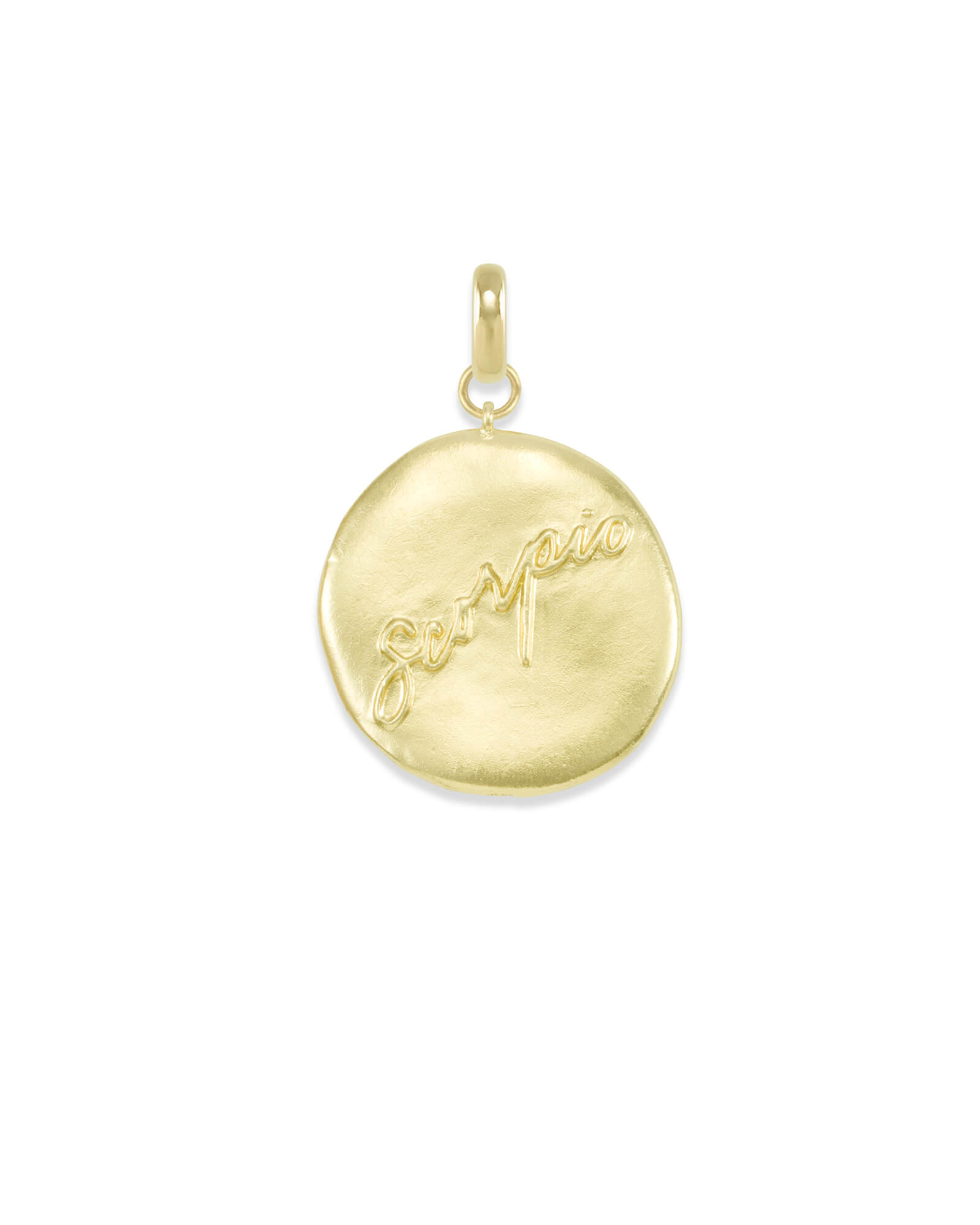 Scorpio Coin Charm in Gold