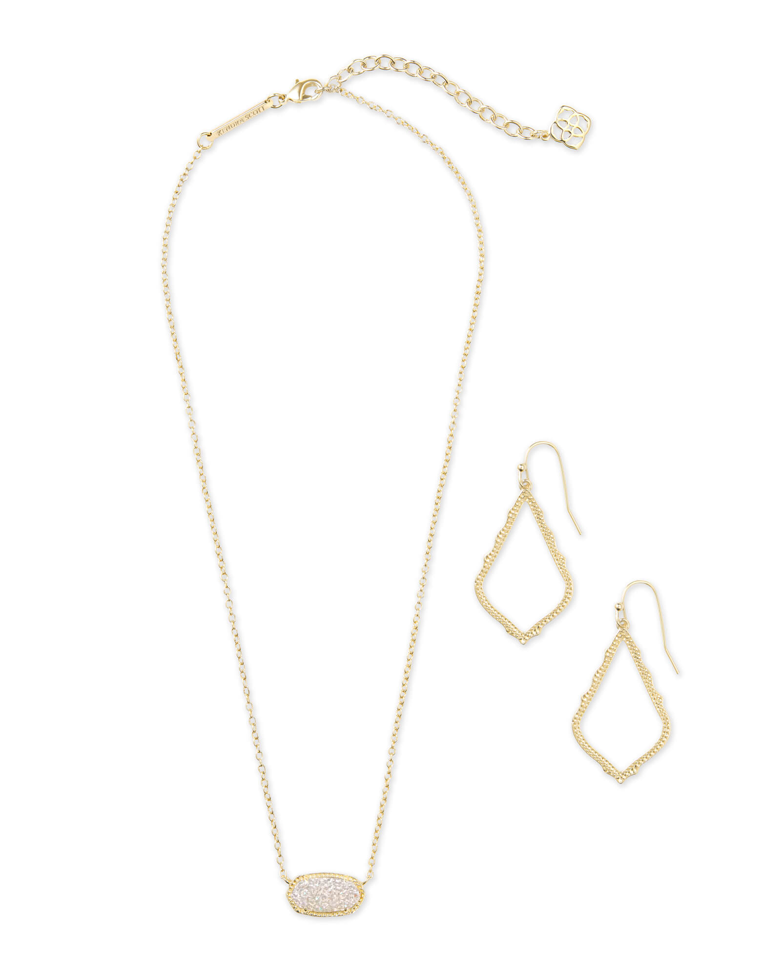 Sophia Earrings and Elisa Necklace Set in Gold