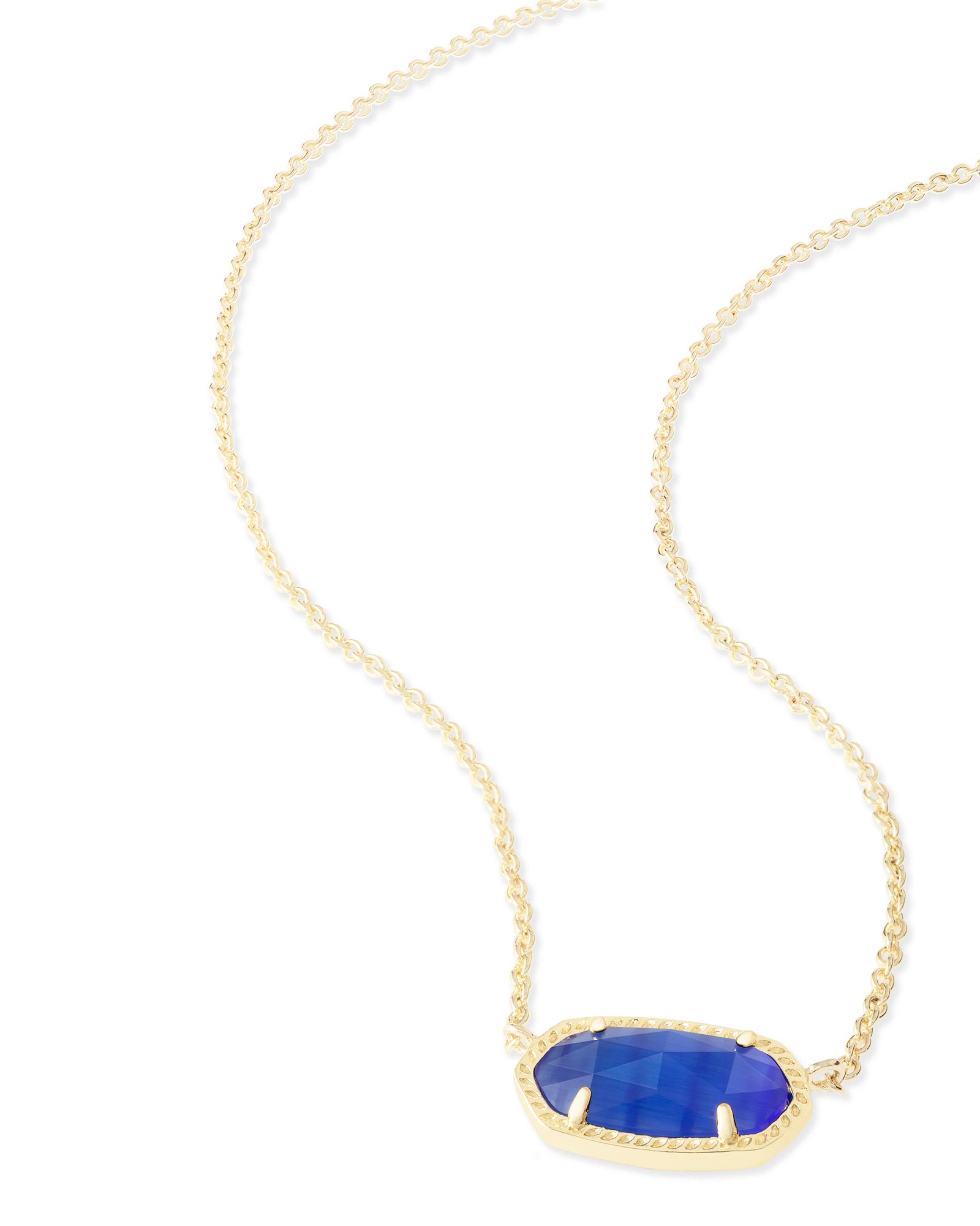 Elisa Pendant Necklace in Cobalt Cat's Eye