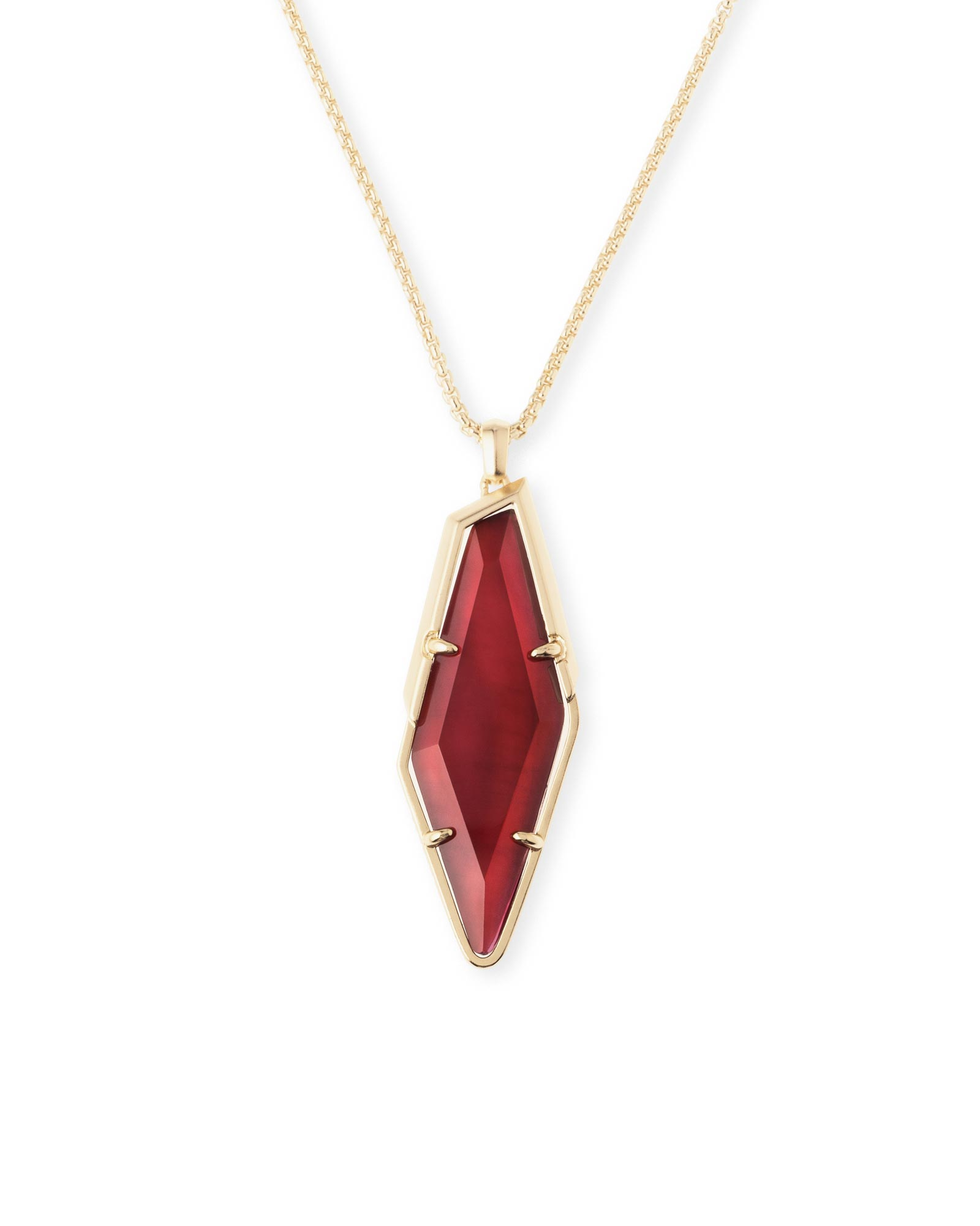 Beatrice Long Necklace in Burgundy Illusion
