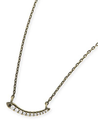 Whitlee Pendant Necklace in Antique Brass