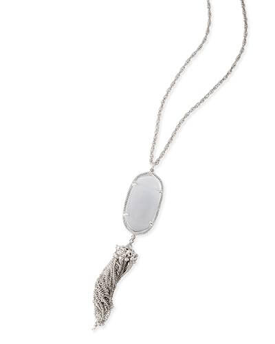 Rayne Silver Necklace in Slate