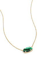 Elisa 18k Gold Vermeil Pendant Necklace in Green Malachite
