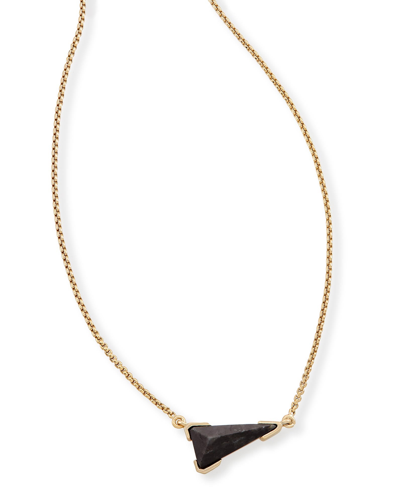 Racquel Pendant Necklace in Black Granite