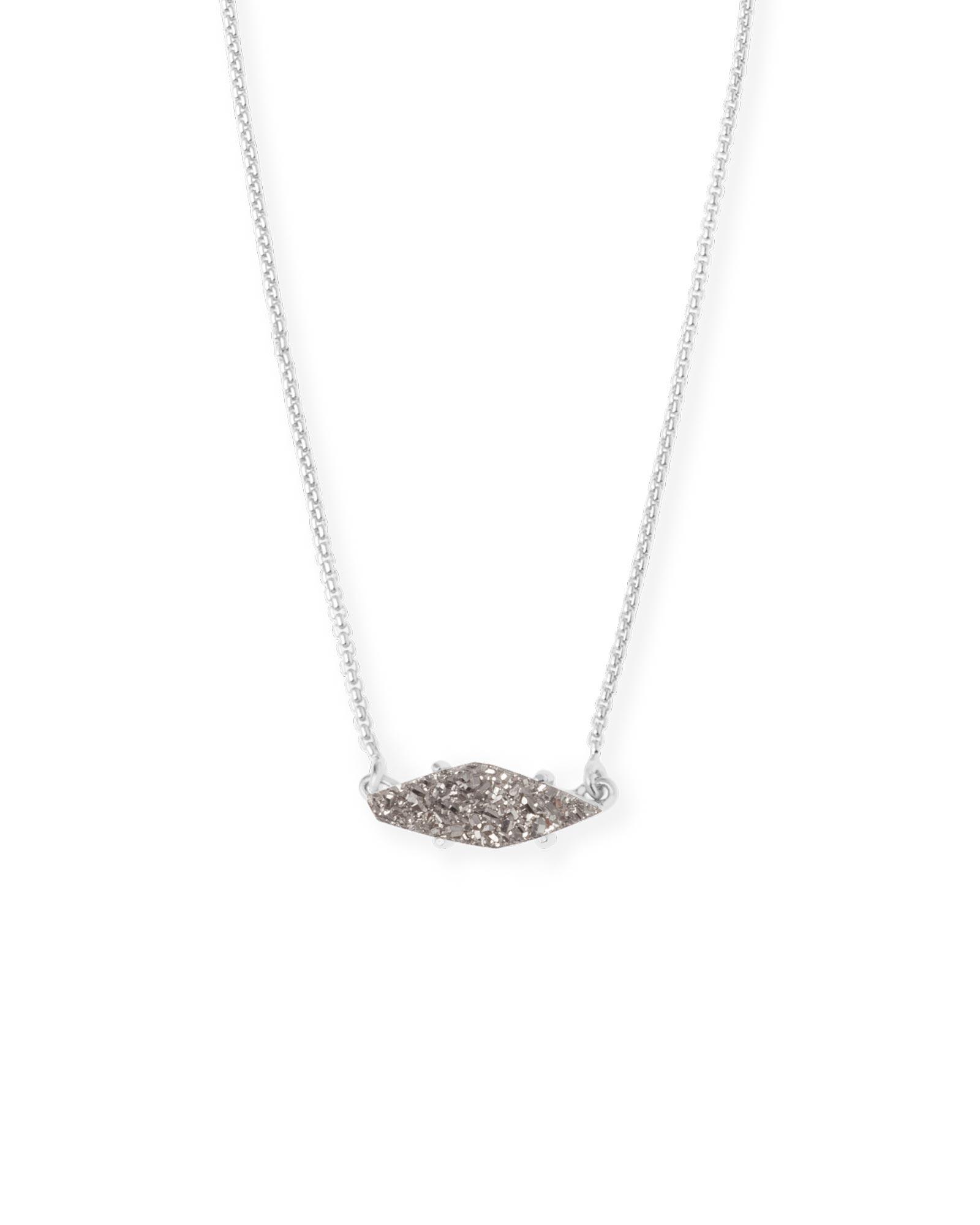 Bridgete silver pendant necklace in platinum kendra scott bridgete pendant necklace in platinum drusy aloadofball Images
