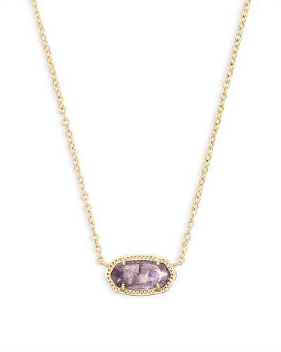 Elisa Pendant Necklace in Amethyst