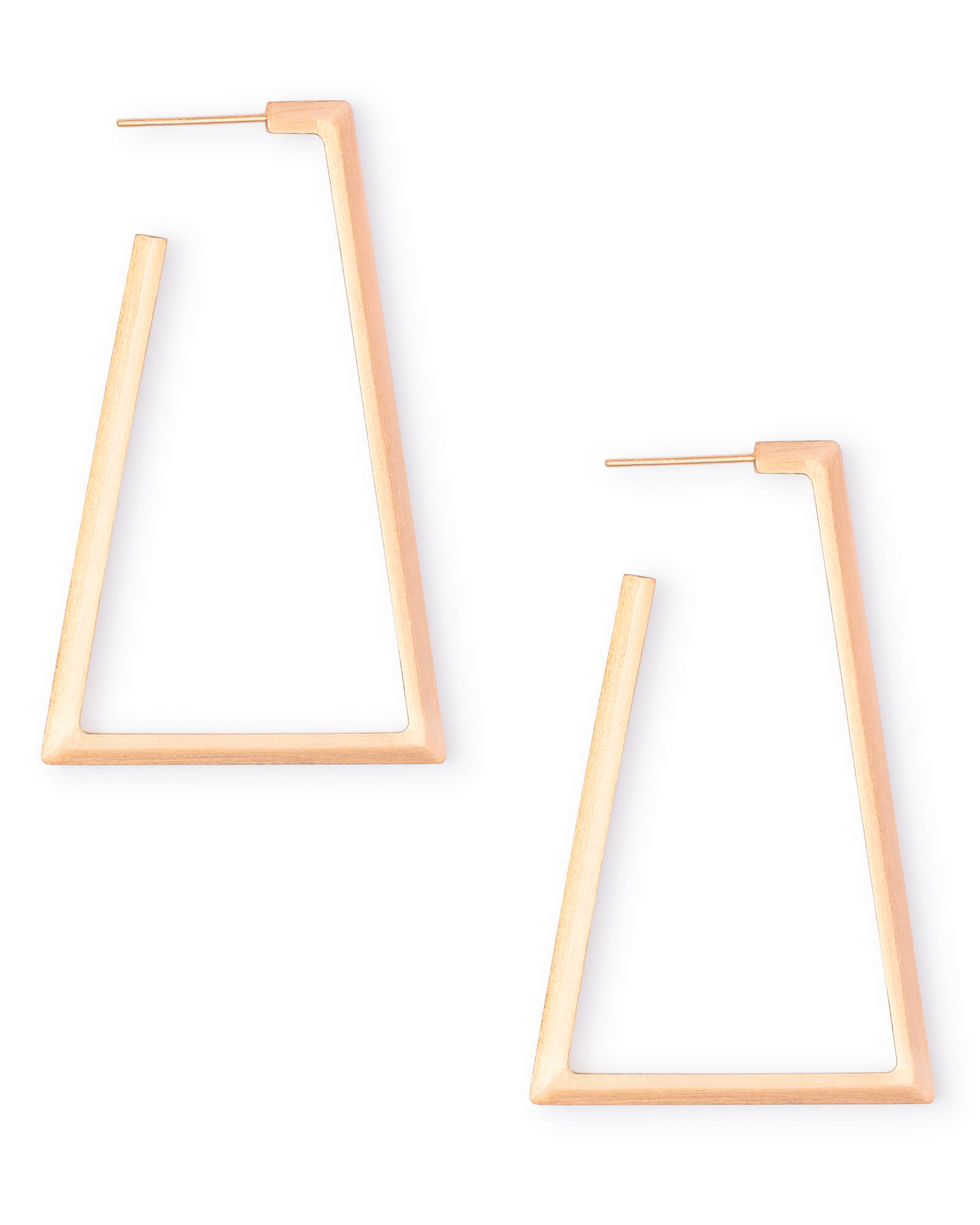 Easton Hoop Earrings in Rose Gold