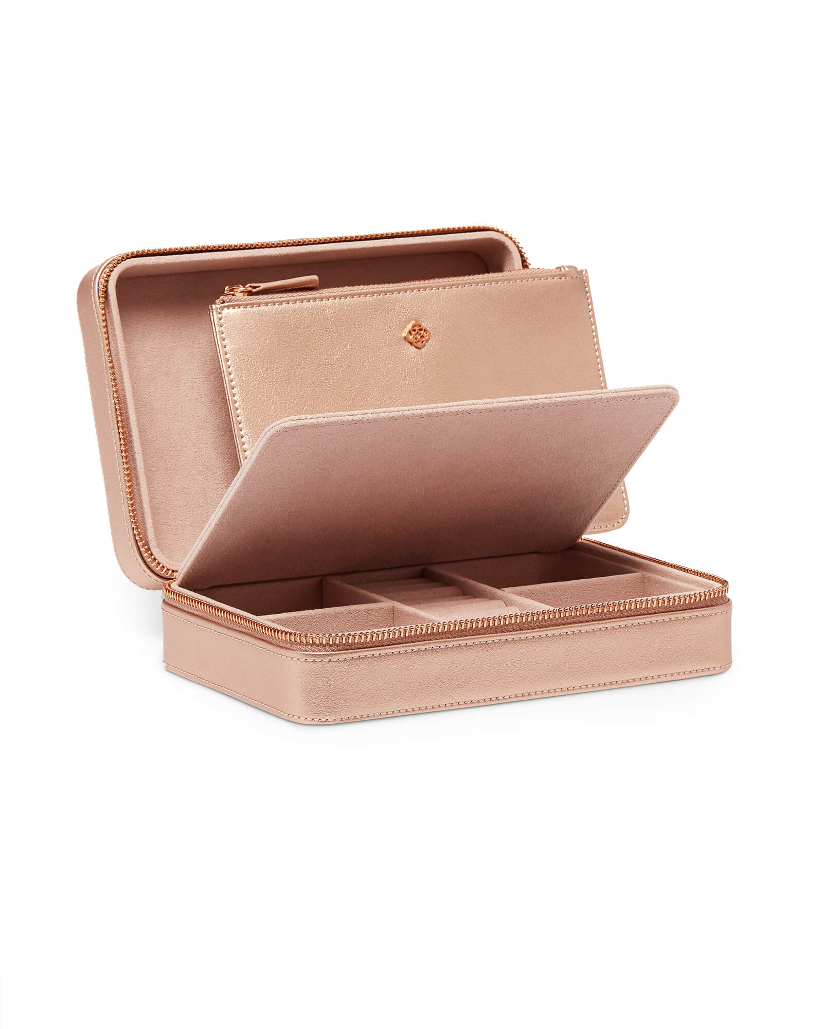 Medium Travel Jewelry Case in Rose Gold
