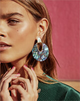 Diane Gold Statement Stone Earrings