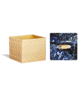Square Filigree Box in Blue Sodalite