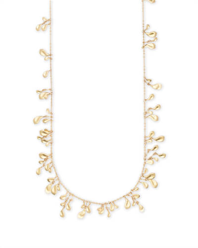 Bella Long Necklace in Gold