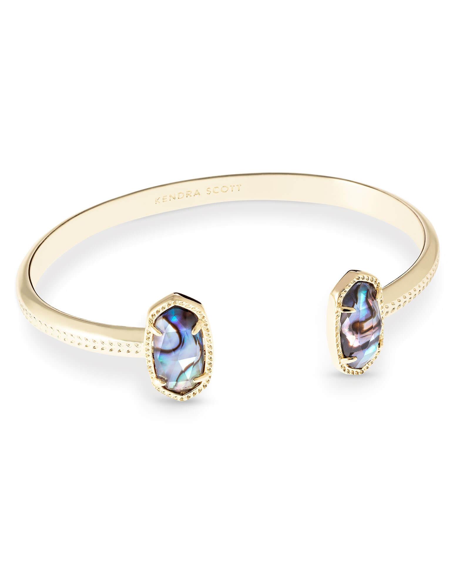 8beeef4edfa Elton Gold Cuff Bracelet in Abalone Shell | Kendra Scott