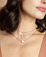 Lisa Pendant Necklace in Pave Diamond and 14k Rose Gold