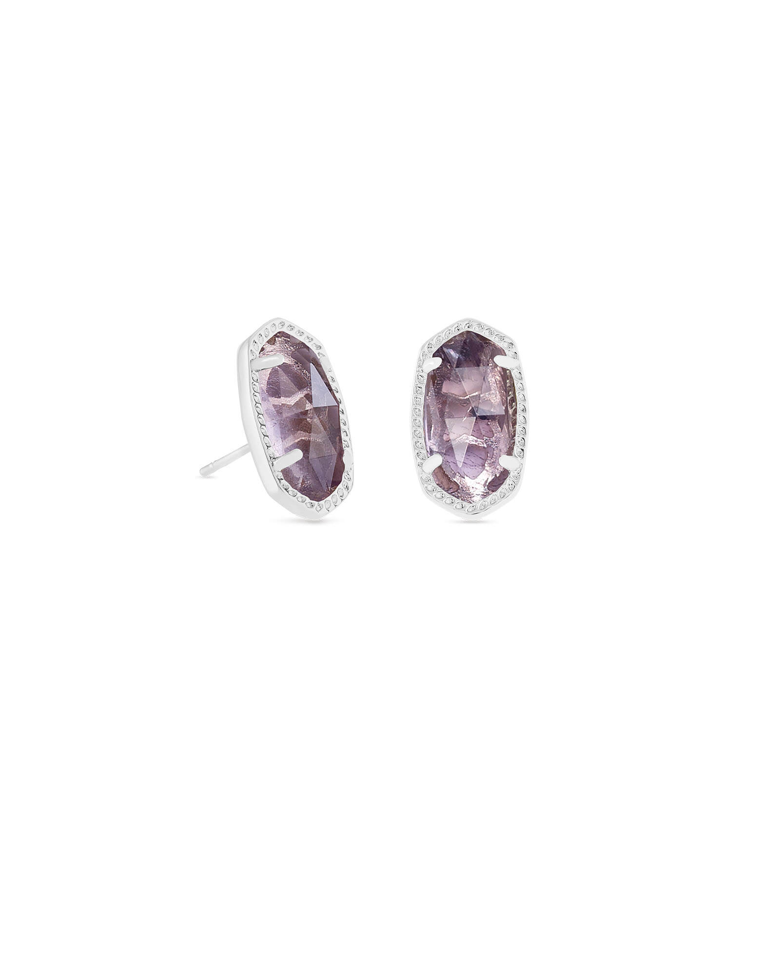 Ellie Silver Stud Earrings in Amethyst