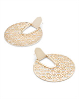 Diane Statement Earrings in Filigree